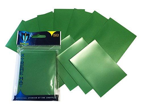Max Protection 50 Double Matte Deck Protector Sleeves for Gaming Cards, Green