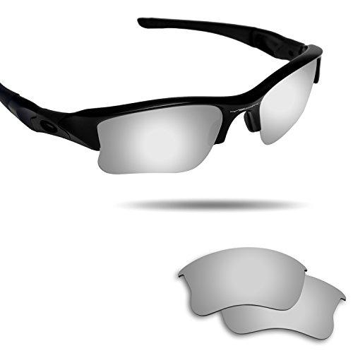 Fiskr Anti-saltwater Polarized Replacement Lenses for Oakley Flak Jacket XLJ Sunglasses Metallic - Xlj Jacket Golf Flak Lenses Oakley Prizm