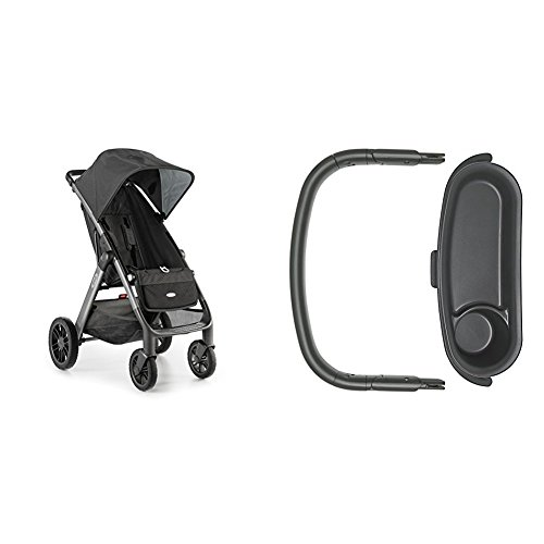 OXO Tot Cubby Plus Stroller, Charcoal with Bumper Bar and...