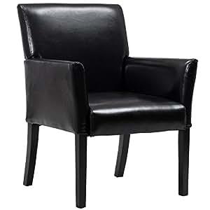 amazon com giantex pu leather executive guest reception chair
