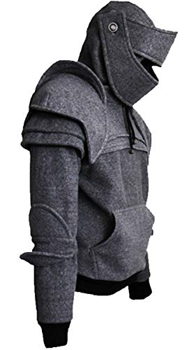 Riekinc Medieval Knight Hoodie Jacket Cosplay Costume ()