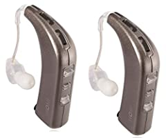 """Features - Slim style easily fits behind either ear. All day use with rechargeable battery. Switch between three environment modes """" """"everyday"""", """"restaurant"""", and """"entertainment"""".  Specifications - COLOR: White Gold. BATTERY TYPE: LiIon. HOUR..."""