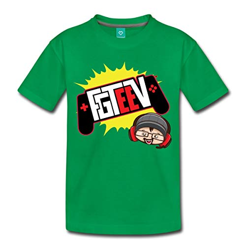 Spreadshirt FGTeeV 2019 Logo Kids' Premium T-Shirt, Youth XS, Kelly -