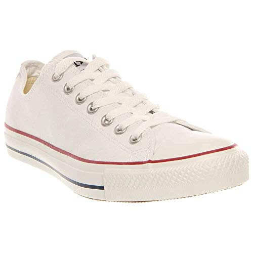 - Converse Unisex Chuck Taylor All Star Low Top Optical White Sneakers - 5 Men 7 Women