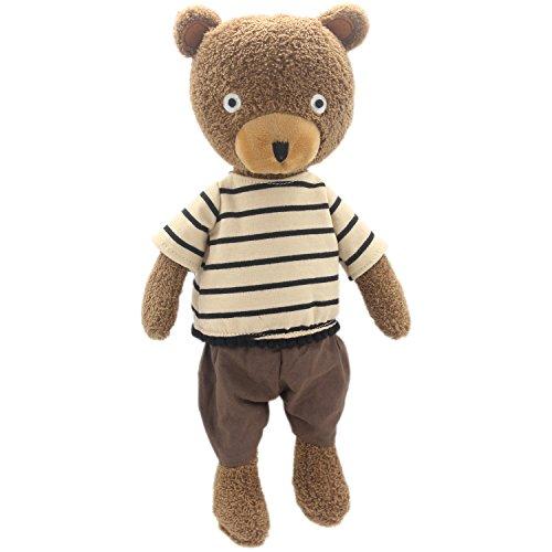JIARU Dressed Stuffed Animals Teddy Bear Plush Toys Brown 14 Inches