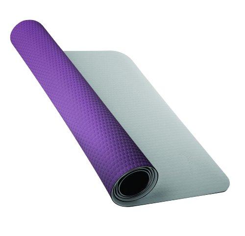 Nike Fundamental 3mm Yoga Mat, Grey/Dark Plum, Medium