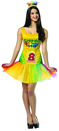 (Rasta Imposta Crayola Crayon Box Dress, Multi, Adult)