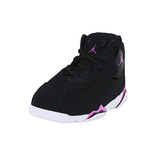 NIKE Jordan Toddler Jordan True Flight GT Black Fuchsia Blast White Size 10