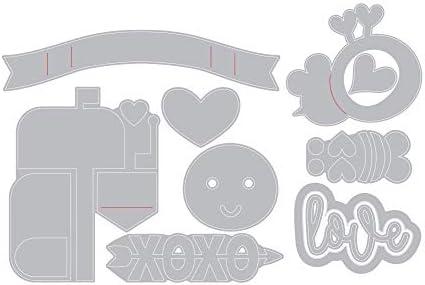 Sizzix Thinlits Die Set 10PK Valentine Embellishments by Lori Whitlock 663188