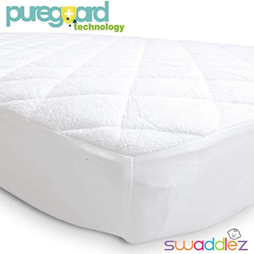 Pack n Play Mattress Pad | Mini Crib Waterproof Protector | Padded Cover for Graco Playard Matress | Fits All Baby Portable Cribs, Play Yards and Foldable Mattresses ()