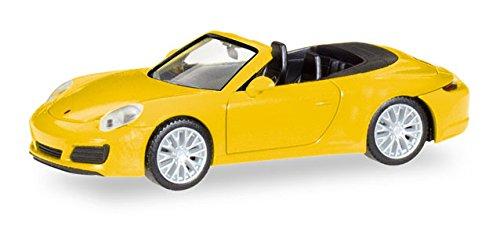 Herpa 028899 Fahrzeug Porsche 911 Carrera 4S Cabrio Racinggelb