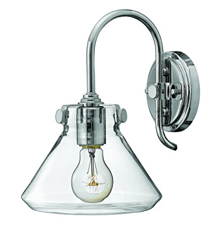 Hinkley 3176CM Restoration One Light Wall Sconce from Congress collection in Chrome, Pol. (Hinkley Chrome Sconce)
