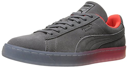 Puma Mens Suede Classic Fade Future Fashion Sneaker, Gris Acero, 47 D(M) EU/12 D(M) UK