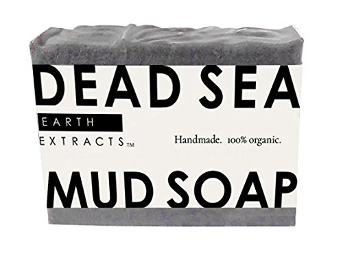 100% Natural & Organic Dead Sea Mud Face, Body & Hand Soap   Handmade   Moisturizing   For Men & Women   Smells Amazing!   Cruelty Free
