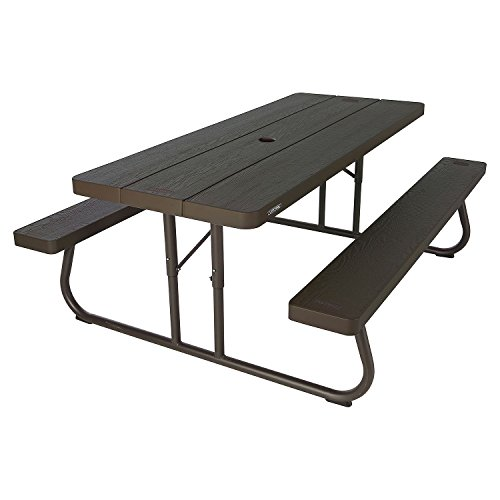 Brown Plastic and Steel 6-Foot Picnic Table (Plastic Picnic Table)