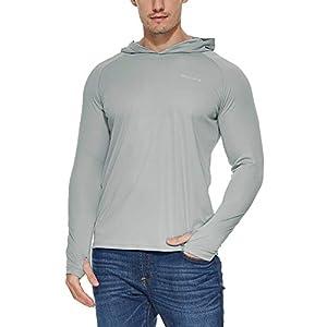 Baleaf Men's UPF 50+ Sun Protection Hoodie Long Sleeve Performance T-Shirt