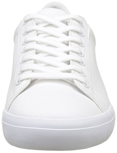 Amazon.com | Lacoste Mens Lerond BL 2 Canvas Lace Up Trainer White | Fashion Sneakers