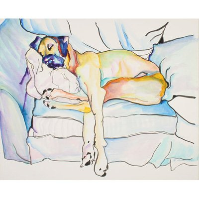 Sleeping Beauty by Pat Saunders-White, 14x19-Inch Canvas Wall Art - Artist: Pat Saunders-White, Subject: Animals Style: Contemporary, Product Type: Gallery-Wrapped Canvas Art, Made in USA Trademark Fine Art's compilation of artists is constantly evolving and growing to fit with the style trends in demand of the times with each of our pieces being selected to add the most sophisticated touch to any home décor. - wall-art, living-room-decor, living-room - 41rvn4U 6dL. SS400  -