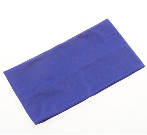 Price comparison product image Sports Headwear Yoga Headband Extra Wide 5'' Soft Stretchy Yoga Fashion Jersey Workout Headband for Yoga Softball Volleyball Basketball Cheer Dance Hair Accessories, Blue Color