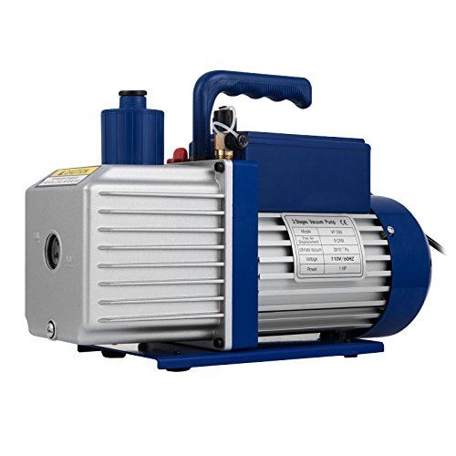 Bestauto Vacuum Pump 12CFM 1HP Vane Vacuum Pump Two Stage 3 x 10-1 Pa Ultimate HVAC Rotary Auto AC Refrigerant Vacuum Pump for Freezing Food Packaging Automobile Reparation Vacuum Evacuation
