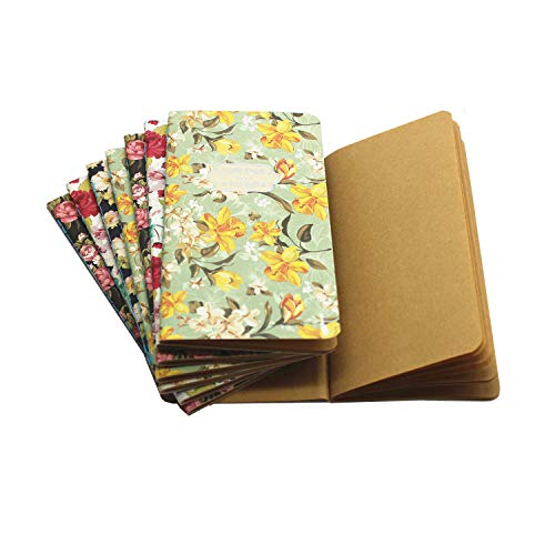 (TANG SONG 8PCS Color Series Softcover Kraft Paper Notebook Journal Diary Set 8 Unique Design Pack-28 Sheets/56pages (3.4''x6.3''/ LxW))