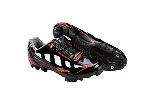 Ges Manufacturas S.A. MTB Rider Zapatillas, Unisex negro /rojo