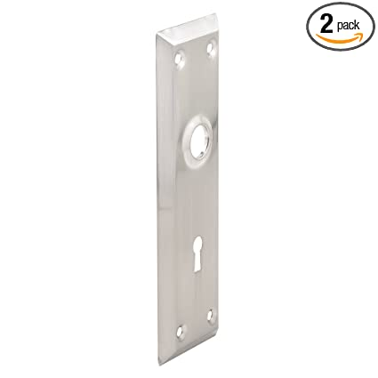 Defender Security E 2718 Door Escutcheon Plates, Satin Nickel Plated,(Pack  Of 2
