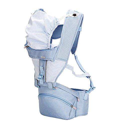 Time Will Tell Multi-function Soft Ergonomic Baby Carrier Front and Back with Hip Seat Suit for Infant & Toddler In All Season,The Perfect Baby Gift