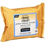 Neutrogena Deep Clean Oil-Free Makeup Remover Cleansing Wipes- 25 CT