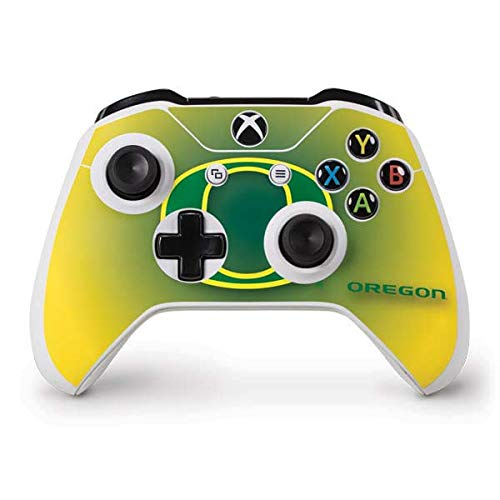 (Skinit Oregon Ducks Green Gradient Xbox One S Controller Skin - Officially Licensed Fermata College Gaming Decal - Ultra Thin, Lightweight Vinyl Decal Protection)