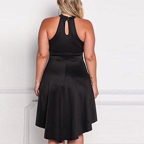 Femmes Mariage Yanxh Clothing Grande De Irrégulière Black Taille Bal Des Creuse Robe czqHqZwprY
