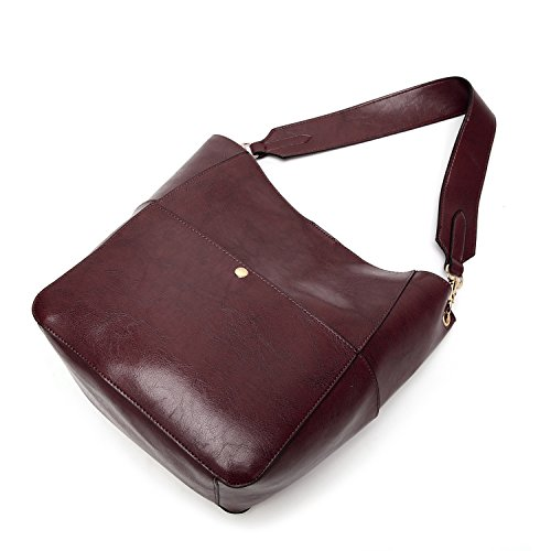 7afc0cfcc Molodo Womens Satchel Hobo Top Handle Tote Leather Handbag Designer  Shoulder Purse Bucket Crossbody Bag (