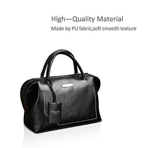 Tote Handle 2018 NICOLE Color New a Pure amp;DORIS Handbag Pu Bags Soft Fashoin Leather Black Top Womens Brown BqvHqO