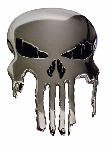 Belt Buckles Clothing Accessories (Marvel Comics PUNISHER Skull Logo Polished Silvertone BELT)