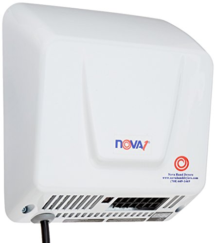 NOVA 0833 Economical Hand Dryers, 1 Plug-in, 110-220V by Nova
