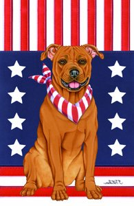- Best of Breed American Pit Bull - Tomoyo Pitcher Patriotic Large Flag