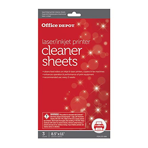 Office Depot OD2537 Printer/Copier/Fax Cleaning Kit, OD2537 (Laserjet Printer Cleaning)
