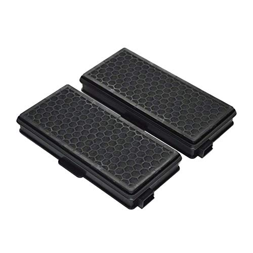 EZ SPARES 2Pcs AAC50&SF-AA50 Miele Active AirClean Hepa Filter Double Powdered Carbon Double Efficacy Fits S4000- S4999 Series,S4000 S5000-S5999 Series,S6000-S6999 S6000 S8000 Series S4 S5 S6 S8