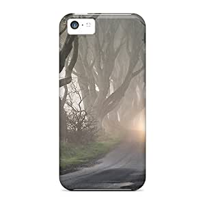 Tough Iphone Poy947rgQQ Cases Covers/ Cases For Iphone 5c(road Through Haunted Forest)
