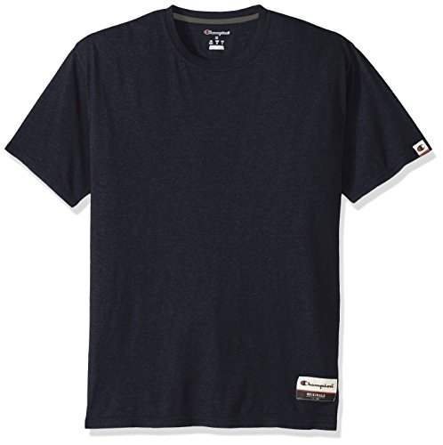 Champion Men's Authentic Originals Soft Wash Short Sleeve Tee, Navy Heather, (Champions Navy Short Sleeve T-shirt)