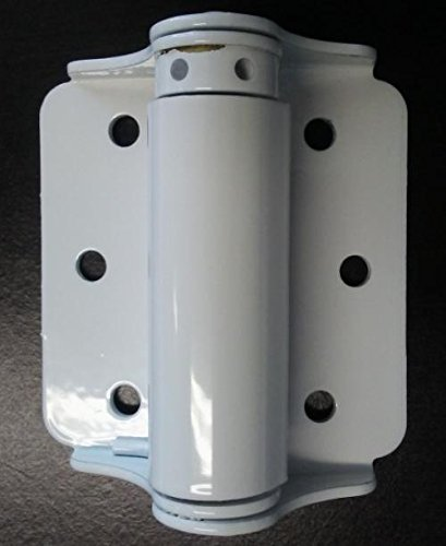 Pair of 3'' Painted Spring Hinges for Metal Pedestrian Gates (3 Colors to choose from) (White) by Fittings Plus Inc