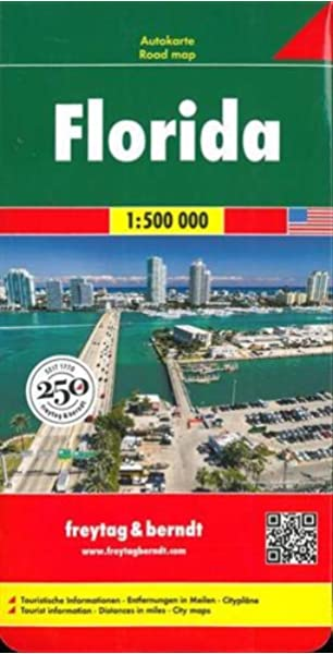 Florida, mapa de carreteras. Escala 1:500.000. Freytag & Berndt.: Wegenkaart 1:500 000 Auto karte: Amazon.es: VV.AA.: Libros