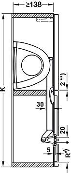 640-700 mm // 8-16 kg 1 Komplett Set zum Nachr/üsten Gedotec Kesseb/öhmer Huwilift Hochfaltbeschlag Senso Klappenbeschlag Klappenbeschl/äge