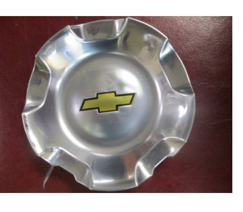 20 Inch OEM Chevy 6 Lug Polished aluminum Center Cap Hubcap Whee
