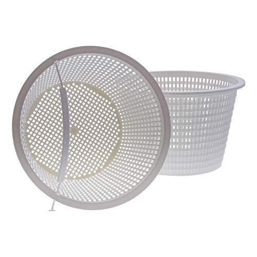 (U.S. Pool Supply Swimming Pool Plastic Skimmer Replacement Basket (Set of 2) - Skim Remove Leaves, Bugs and Debris - 8