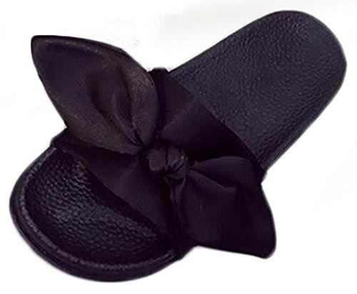 NEWZCERS - Sandalias de vestir de Caucho para mujer negro