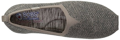 Skechers Bobs Womens Highlights-get Knitty Flat Taupe Multi