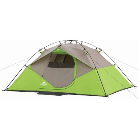 Ozark Trail 9′ x 7′ Instant Dome Camping Tent, Sleeps 4 Lime Green/Grey