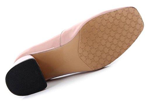 talón 1 de solo mujeres patente 37 3 las NSGG 5CM cuero 3 de Zapatos 37 de alto SwqAvZ