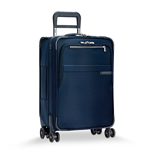 Briggs & Riley Baseline-Softside CX Expandable Carry-On Spinner Luggage, Navy